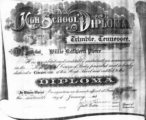 First Trimble High Diploma